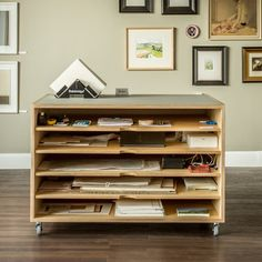 Combination of bookshelf and office storage made from Birch plywood | Plywood and solid timber furniture for living spaces | Make Furniture