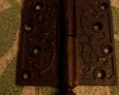 Antique 4 x 4 1870 Acorn Top Cast Iron Door Hinge