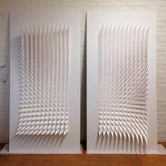 Sculptures géométriques en papier par l'artiste Matthew Shlian - Journal du Design