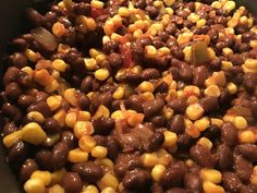 Black beans corn and salsa