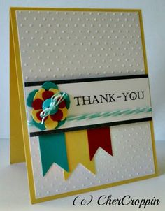 Thank You - could change the colors and embellishment for a good patriotic thank-you card