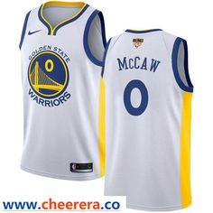 fd0da986cb4 Nike Warriors  0 Patrick McCaw White The Finals Patch NBA Swingman  Association Edition Jersey Basketball