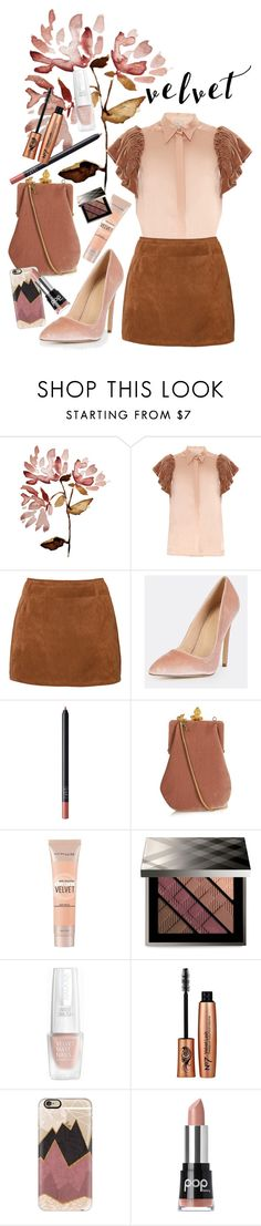 """Velvetine Routine"" by rachael-aislynn ❤ liked on Polyvore featuring Hillier Bartley, NARS Cosmetics, Yves Saint Laurent, Maybelline, Burberry, Casetify and Pop Beauty"