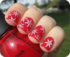 Ugly Christmas Sweater Mani using Sinful Colors Ruby Ruby, Konad M59 and Konad Special Polish in White