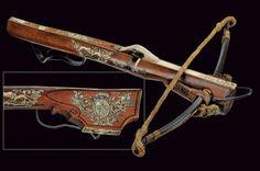 Bella balestra di appartenenza nobile Germania, fine del XVII Secolo crossbow