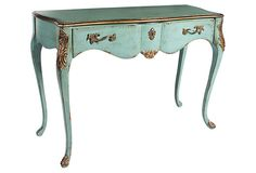 """Wheeler Console Table on OneKingsLane.com -- the color of this table is so enticing.  46""""W x 32""""H.  $799.00"""
