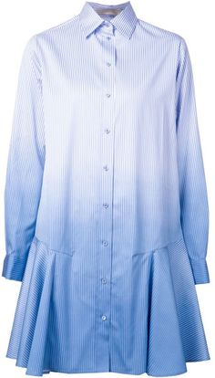 Love this: VANESA BRUNO Gradient Effect Shirt Dress @Lyst amazing with Brogues