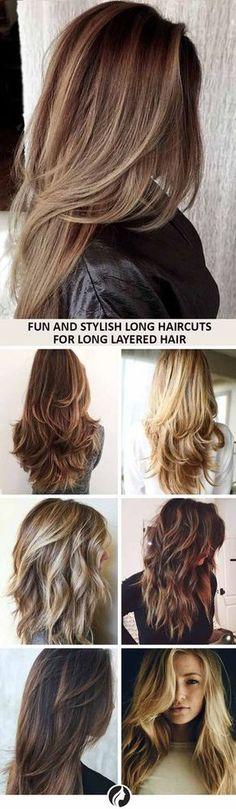 Beautiful Long Haircuts for Long Layered Hair Collage