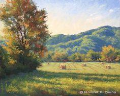 Peinture automne de montagne de paysage de la Virginie par Jennifer E. Young