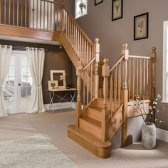 Staircase Renovations | Stairs | Banisters | Neville Johnson Loft Staircase, Stair Banister, Timber Staircase, Oak Stairs, Wooden Staircases, Wooden Stairs, House Stairs, Banisters, Stairways