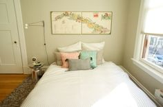 Martini Side Table from West Elm in a bedroom via @Apartment Therapy