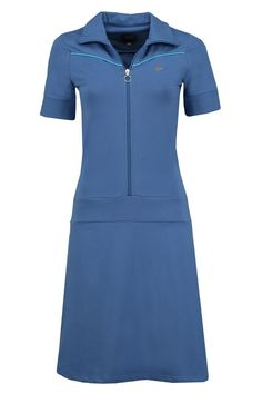 Tante Betsy dress vera blue sporty zippie jurk blauw sportief