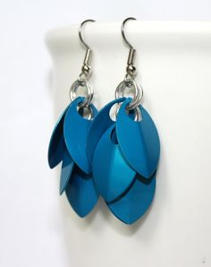 Shaggy Scales Chainmaille Earrings