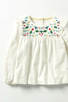 Pretty Embroidered Top | Boden