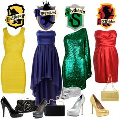 Harry Potter themed prom dresses haha yes! Harry Potter Mode, Harry Potter Dress, Harry Potter Style, Harry Potter Wedding, Harry Potter Houses, Harry Potter Outfits, Hogwarts Houses, Jarry Potter, Harry Potter Kleidung