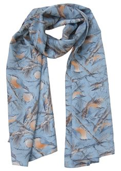 Nuthatch Scarve Silk 100%  Made in Britain