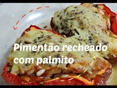 PIMENTÃO RECHEADO COM PALMITO - VEGETARIANO - Horta e Receita do Compartilhando Arte - Episodio 2 - YouTube