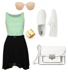 """White"" by mshlychenko ❤ liked on Polyvore"