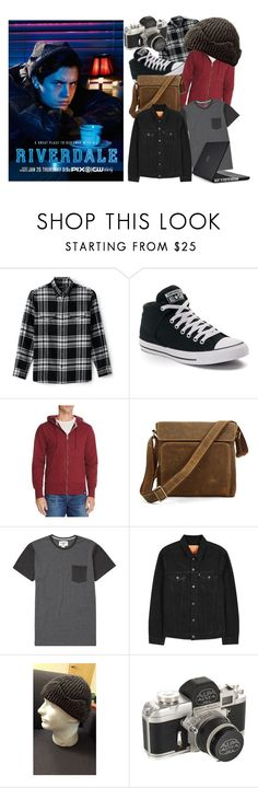 """Jughead Jones (Riverdale)"" by meganhewer on Polyvore featuring Lands' End, Converse, American Giant, Billabong, Levi's, Speck, men's fashion and menswear"