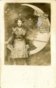 Getting Up in the World, Paper Moon RPPC by depthandtime, via Flickr