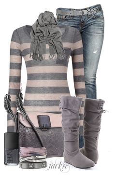 """Stripes and Jeans"" by jackie22 ❤ liked on Polyvore featuring moda, True Religion, Great Plains, Botkier, Wet Seal, Acne Studios, Lucky Brand, Stella & Dot, NARS Cosmetics y color blocking"