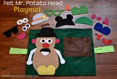 A great project for your kids! Make a Mr. Potatohead Playmat! It would make a great quiet toy for church or on the road.