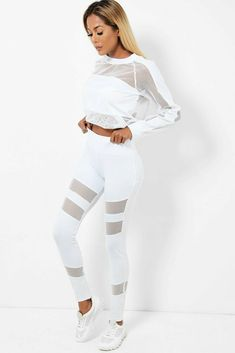 White Net Mesh Tracksuit Lounge Sets Legging Sweatshirt Leisure UK 10 12 14 NEW #Unbranded Online Price, White Jeans, Mesh, Lounge, Comfy, Retro, Best Deals, Sweatshirts, Outfits