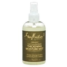 Shea Moisture Yucca & Baobab Thickening Mist: Originally posted this in my Random Love board cause i was in search of it. i found it and i'm using it on my curls now.