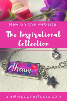 A brand new collection with inspiring words to serve as a beautiful reminder or a motivational gift to someone close... Different Colours and eight available words to chose from, also custom options and matching earrings!