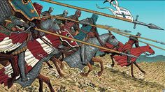 Western European knights charging. Medieval World, Medieval Knight, Medieval Armor, Medieval Fantasy, Norman Knight, Crusader Knight, High Middle Ages, Armadura Medieval, Templer