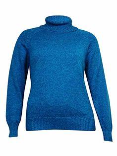 Karen Scott Womens Marled Turtleneck Sweater L Aqua Lake Marl ** For more information, visit image link.