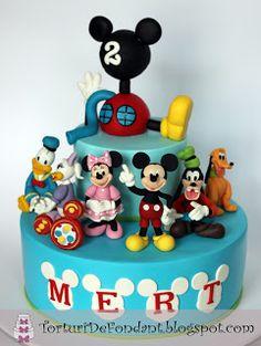Clubul lui Mickey Mouse | Torturi de fondant