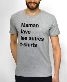 T-shirts Homme Maman Gris by Monsieur TSHIRT