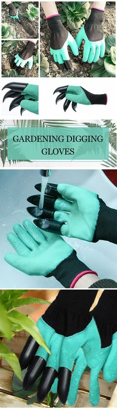 Built-in claws, waterproof, and durable gardening work glove makes it easy to have fun gardening!