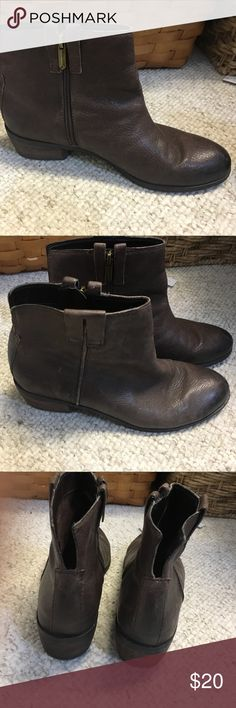 Sam Edelman brown ankle booties Adorable with side zip and back cut out. Excellent condition! Small heel. Sam Edelman Shoes Ankle Boots & Booties