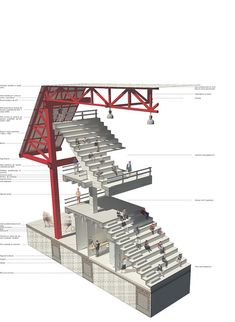 por fachada isometrico Iso of a stair separated from drawings. Great example of treating architecture drawing like an instructional visualIso of a stair separated from drawings. Great example of treating architecture drawing like an instructional visual Architecture Graphics, Architecture Drawings, Architecture Details, Cubist Architecture, Architecture Diagrams, Architecture Board, Chinese Architecture, Steel Structure Buildings, Building Structure
