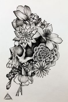 Semillas By gabopatapalo Leg Tattoos, Flower Tattoos, Body Art Tattoos, Sleeve Tattoos, Skull Thigh Tattoos, Tatoos, Tattoo Sketches, Tattoo Drawings, Tattoo Pierna Mujer