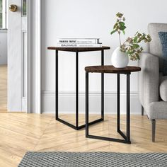 Grey Table, Black Table, Walnut Table Top, Black And White Marble, Nesting Tables, Engineered Wood, End Tables, Small Spaces, Mercury