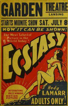 Poster for 'Ecstasy', 1933.