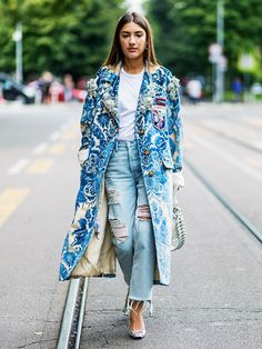 15 Jaw-Dropping Street Style Looks From Milan Fashion Week via @WhoWhatWearUK
