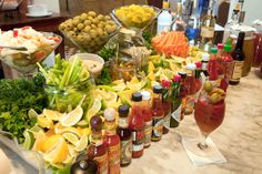 Party Drink Bar ideas and inspiration: Bloody Mary Brunch bar!