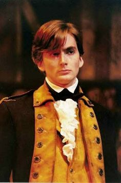 David Tennant Photo Of The Day - 29th June 2014:  As Hamilton in 'The General From America' - July 1996