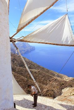 More than 100 windmills in Karpathos Island. Karpathos Greece, Top Destinations, Island Life, Countries Of The World, Greek Islands, Beautiful Places, Amazing Places, Countryside, The Good Place