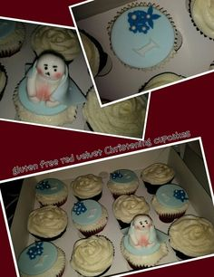 #christening #cupcakes for a lovely customer, i love the #keepsack #teddy with #blanket #blue #fondant #buttercream