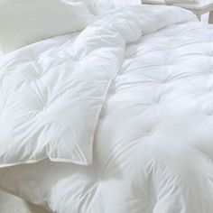 Do you need a luxurious King comforter to keep you warm, but can't sleep with down, you may want to try one of our down alternative King comforters.Restful Nights® Down Alternative Comforter - King - For those who prefer fiber filled products, we offer th Down Comforter, King Comforter, Comforter Sets, White Bedroom, Dream Bedroom, Master Bedroom, White Comforter Bedroom, White Duvet, White Bed Comforters