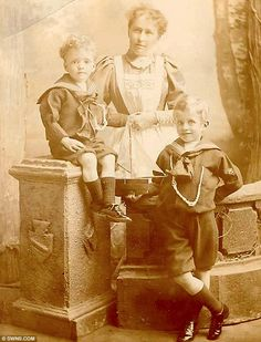What a natty nurse! Norland student Jessy Burton and two of her charges in the mid 1890s. The women were schooled in domestic science and children's education so they would become first class nannies