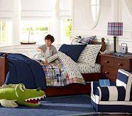 Aidan's room! light. pottery barn furniture.  Boy Rooms   Pottery Barn Kids    Jonah loves alligators.