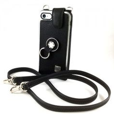 Funda Cuero iPhone 8 con cordón Finger 360 Fundas de calidad #funda #cuero #anticaidas #anillo #finger360 #negro #piel #8s #iphone8