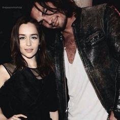 Khal & Khaleesi (Emilia Clarke & Jason Momoa) woahhhh