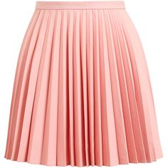 J.W.ANDERSON Sunray Pleated Wool Miniskirt found on Polyvore